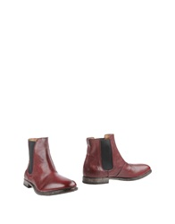 Moma Ankle Boots Maroon