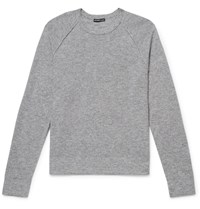 James Perse Textured Cashmere Sweater Gray