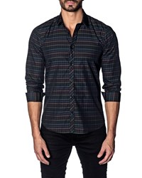 Jared Lang Modern Fit Check Sport Shirt Multi Check