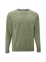 White Stuff Men's Fade Out V Neck Slub Green