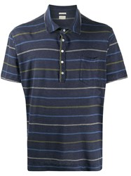 Massimo Alba Linen Striped Print Polo Shirt 60