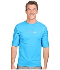 O'neill Skins Short Sleeve Rash Tee Sky Men's Swimwear Blue