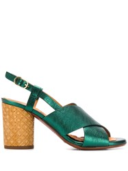 Chie Mihara Giles Heeled Sandals Green