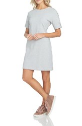 1.State Women's 1. State Lace Up Sleeve T Shirt Dress