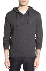 Men's French Connection 'Portrait' Cotton And Wool Hoodie Charcoal Melange