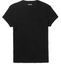 Tom Ford Slim Fit Cotton And Cashmere Blend Jersey T Shirt Black