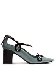 Fabrizio Viti Round 'N' Round Patent Leather Pumps Black Blue