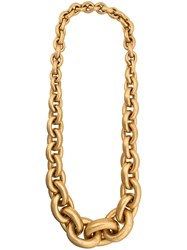 Monies Chunky Chain Necklace Gold