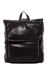 John Varvatos Croc Embossed Backpack Black