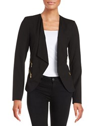 Calvin Klein Zipper Accented Flyaway Jacket Black