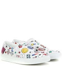 Anya Hindmarch All Over Wink Leather Slip On Sneakers Multicoloured