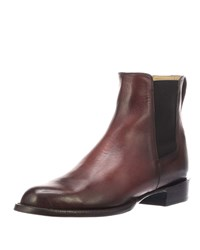Lucchese Grayson Leather Chelsea Boots Black Cherry