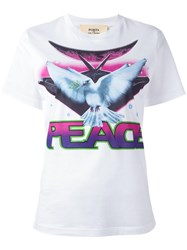 Ports 1961 'Peace' Print T Shirt White