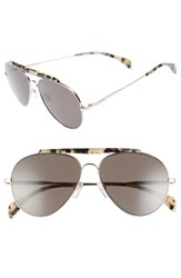 Tommy Hilfiger Women's 58Mm Aviator Sunglasses Light Gold