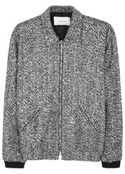Second Layer Grey Boucle Wool Blend Jacket