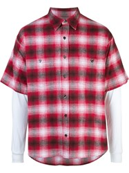 Adaptation Short Sleeve Check Shirt Red