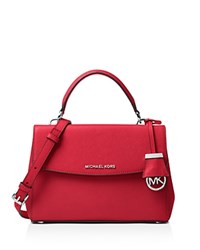 Michael Michael Kors Ava Small Top Handle Satchel Bright Red Silver