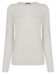 Warehouse Stitch Texture Crew Jumper Cream