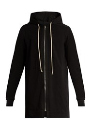 Rick Owens Zip Through Hooded Sweatshirt Black