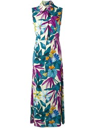 Eggs Floral Print Dress Women Viscose 44