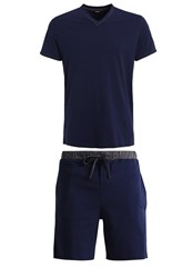 Hom Set Pyjamas Navy Dark Blue
