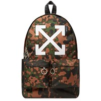 Off White Camo Arrow Backpack Brown