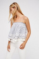 Free People Womens Embroidered Stripe Tube