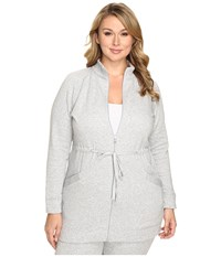 Ugg Plus Size Raleigh Jacket Seal Heather Women's Coat White