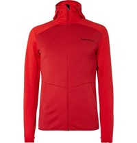Peak Performance Helo Fleece Back Jersey Jacket Red