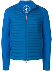 Save The Duck Puffer Panelled Jacket Blue