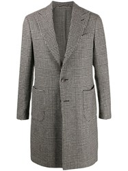 Dell'oglio Houndstooth Check Coat 60