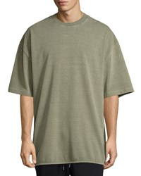 Yeezy Heavy Knit Crewneck Tee Dark Green
