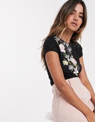 Ted Baker Torina Opal Print Fitted T Black