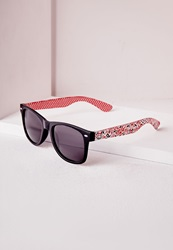 Missguided Printed Frame Sunglasses Multi Multi