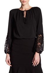 T Tahari Essex Blouse Black