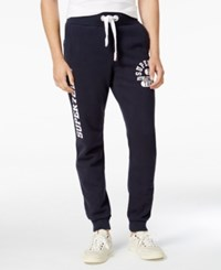 Superdry Men's Trackster Graphic Print Joggers Truest Navy
