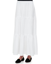 Joan Vass Tiered Long Skirt Women's
