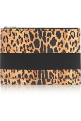 Givenchy Clutch In Leopard Print Textured Leather