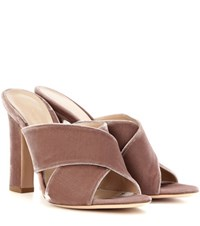 Gianvito Rossi Exclusive To Mytheresa.Com Velvet Sandals Pink
