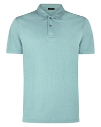 Jaeger Plain Polo Regular Fit Polo Shirt Sage