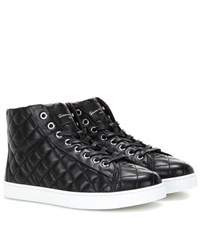 Gianvito Rossi High Driver Quilted Leather Sneakers Black