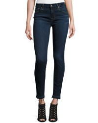 7 For All Mankind B Air Denim Ankle Skinny W Released Hem Tranquil Blue