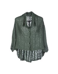 Mia Wish Knitwear Cardigans Women Military Green