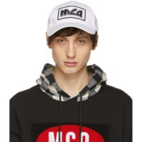 Mcq By Alexander Mcqueen White Embroidered Metal Logo Cap