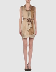 Armand Basi Short Dresses Beige