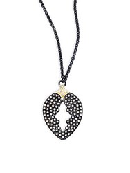 Armenta Old World Diamonds 18K Yellow Gold And Sterling Silver Pear Cut Pendant Necklace