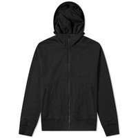 Wooyoungmi Embroidered Logo Hooded Jacket Black