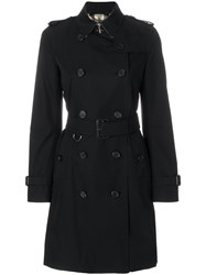 Burberry Sandringham Trench Coat Cotton Viscose Black