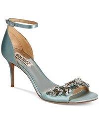 Badgley Mischka Bankston Ankle Strap Evening Sandals Women's Shoes Blue