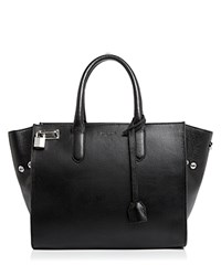Zadig And Voltaire Muse Leather Satchel Black Silver